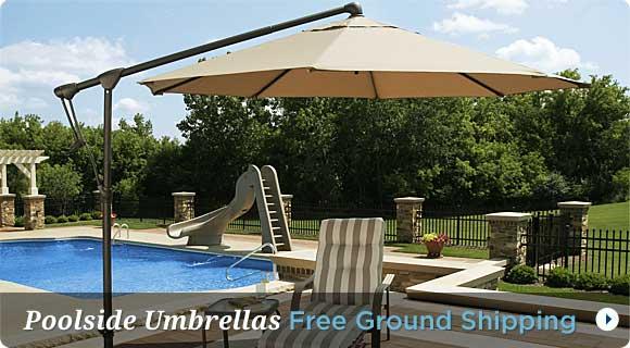 Poolside Umbrellas